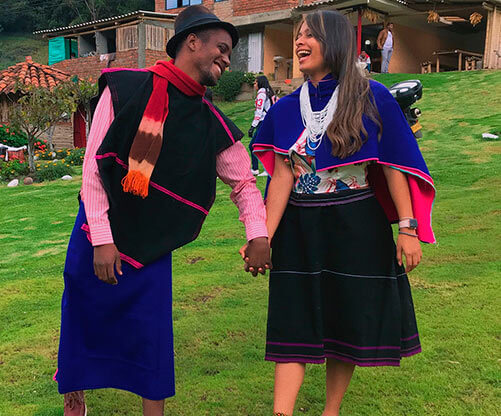 traje tipico de la region andina